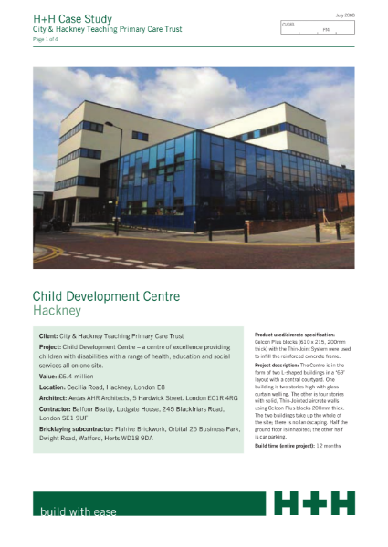 Case Study - Child Development Centre, Hackney