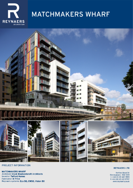 Case Study: Matchmaker's Wharf, featuring CW 50 aluminium curtain wall