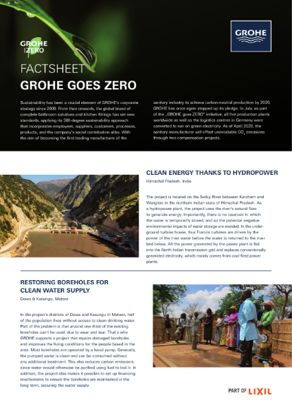 GROHE Sustainability Fact Sheet