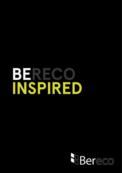 Bereco Inspirational Brochure 2015/2016