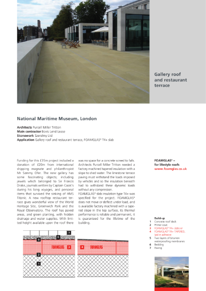Insulating Gallery Roof and Restaurant Terrace - Case Study