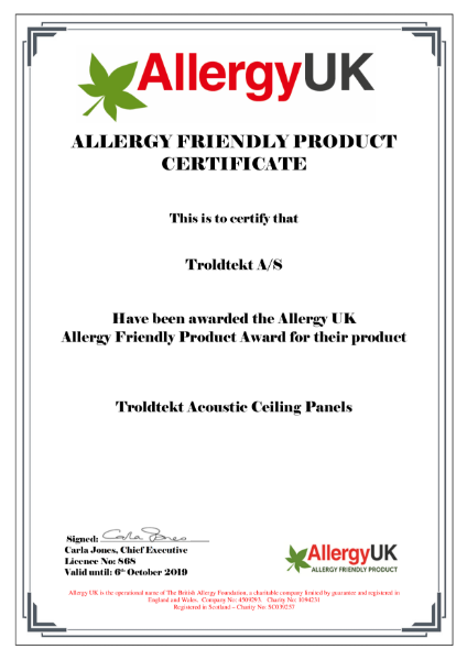 Allergy Friendly Product Award