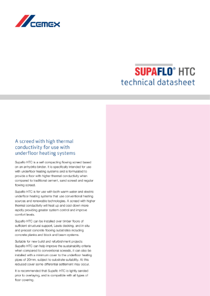Supaflo HTC - High Thermal Conductivity Flowing Screed