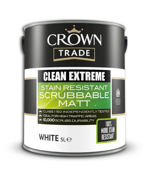 Clean up with Crown Trade Clean Extreme's 100% More Stain Resistant Finish