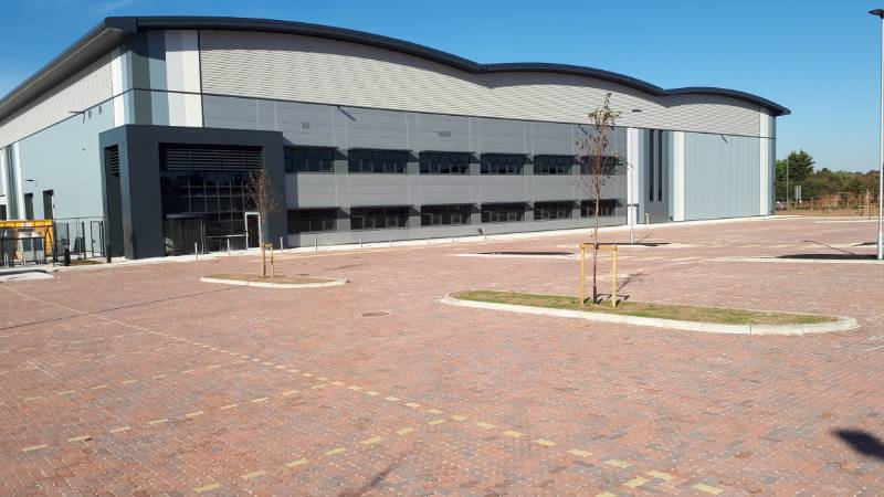 Permeable paving provides the SuDS compliant solution to the car park of a distribution centre in Yorkshire