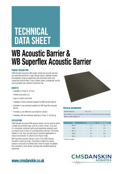 CMS Danskin Acoustics WB Acoustic Barriers