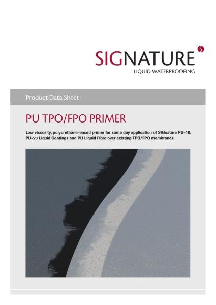 SIGnature PU Liquid Waterproofing TPO-FPO Primer Datasheet
