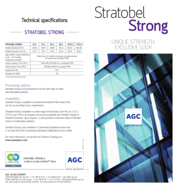Stratobel Strong - Laminated Safety Glass