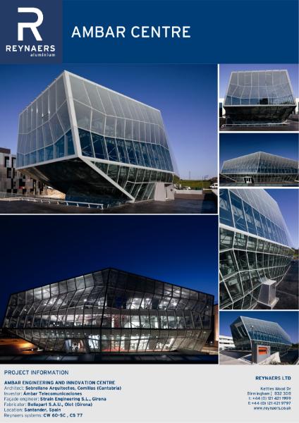 Case Study: Ambar Centre, featuring CW 50 aluminium curtain wall