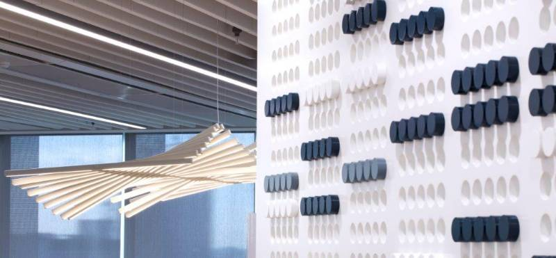 MEDITE PREMIER USED TO CREATE 3D FEATURE WALL AT UBM HEADQUARTERS
