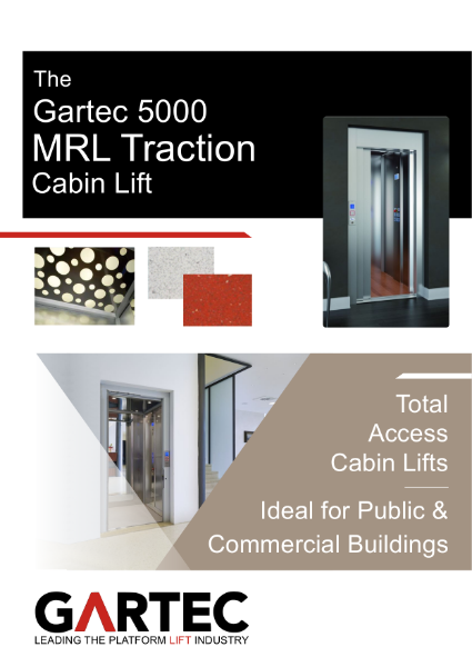 Gartec 5000 MRL Traction Cabin Lift Brochure