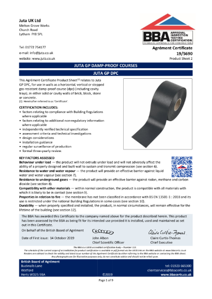 JUTA GP DPC  19/5690 - Product Sheet 2