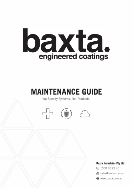 Maintenance Guide - Baxta Engineered Coatings