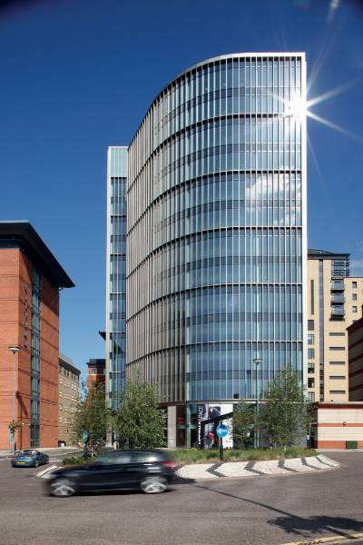 Eleven Brindleyplace featuring Reynaers CW50 and CW60 aluminium curtain walling systems