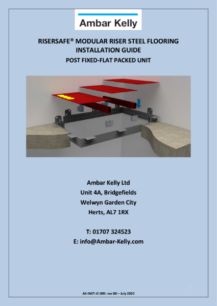 RiserSafe Modular Riser Steel Flooring - Installation Guide - Post Fixed- Flat Packed
