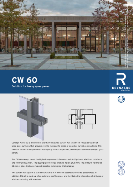Aluminium Curtain Walling System - CW 60