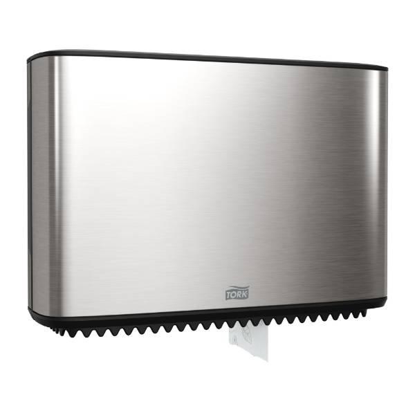 Tork Mini Jumbo Toilet Roll Dispenser in Image Design -Stainless Steel