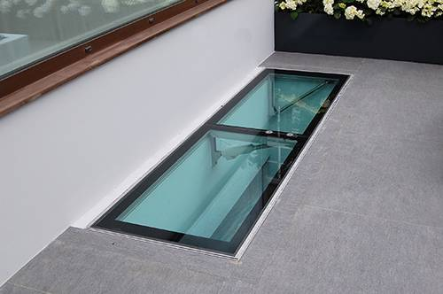 Walk on Glass Access Hatch
