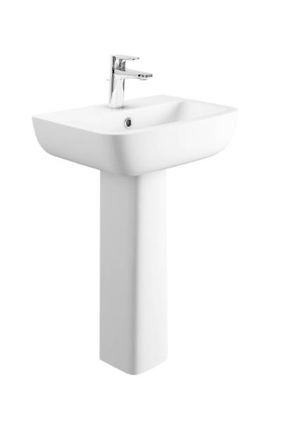 Designer Series 3 54 cm 1TH basin and semi pedestal set
