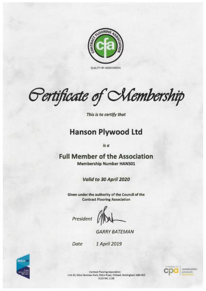 CFA Certificate of Membership