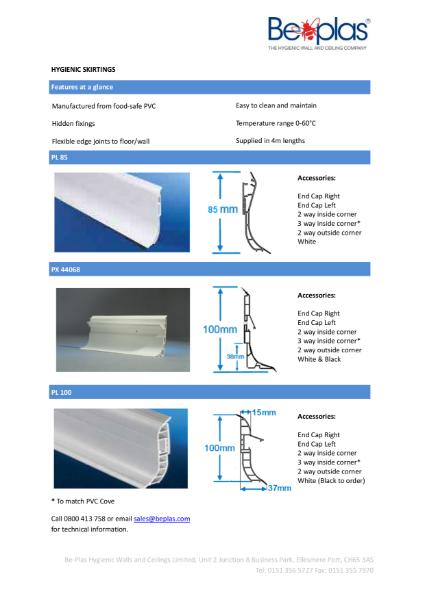 Beplas Elite Hygienic PVC Skirting