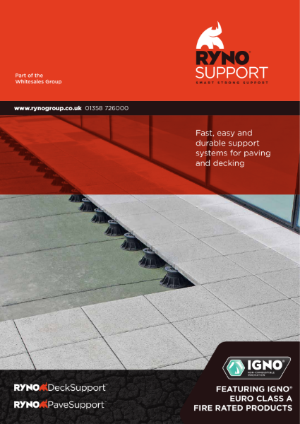 Brochure - RynoSupport - Paving & Decking Support Systems