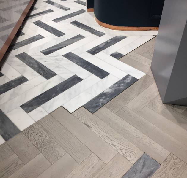 Istoria Bespoke Fossil for Islington Square suite by Argent Design