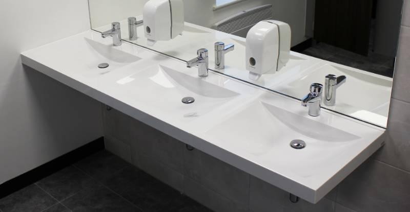 Miranit composite washbasins transform Manchester offices
