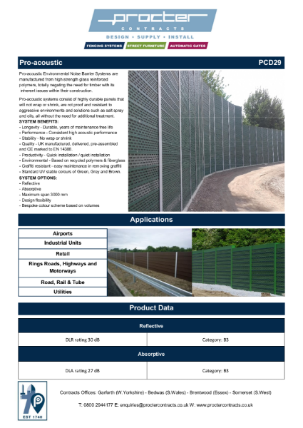 Pro-acoustic Fencing