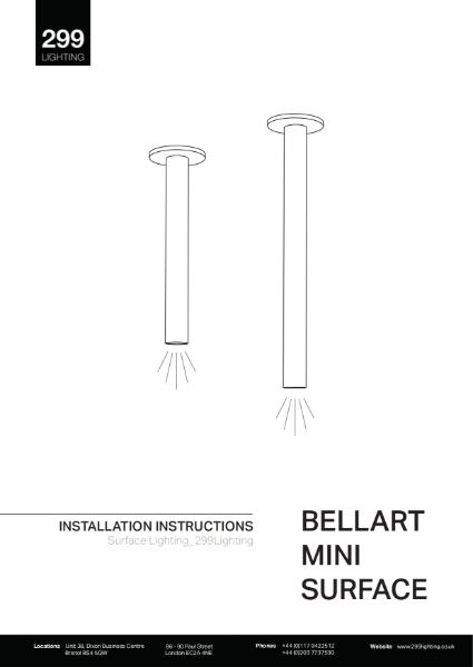 Bellart Mini Surface Downlight Installation Instruction