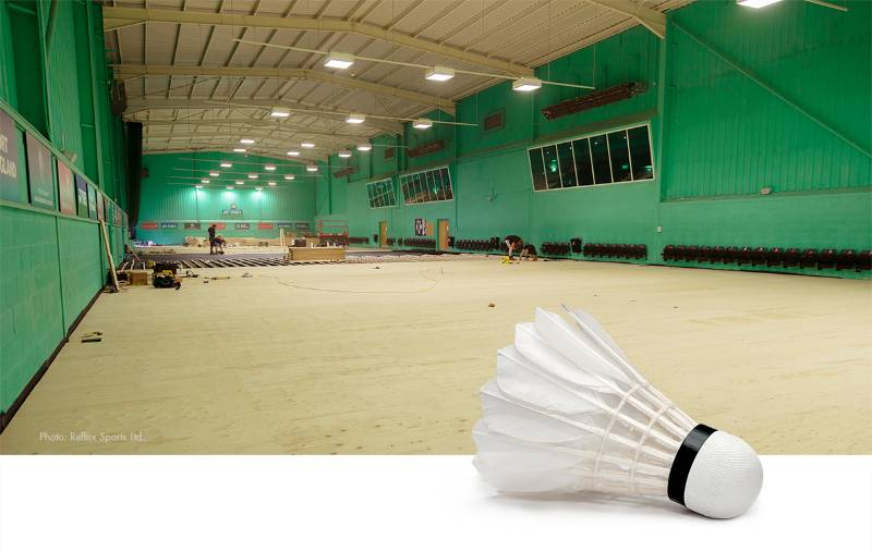 WISA-Sprucefloor Installation Badminton Centre