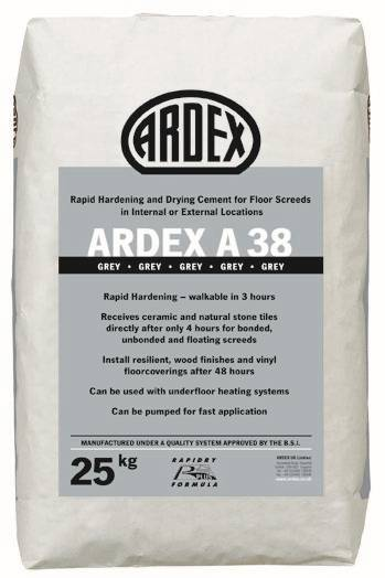 ARDEX A 38 MIX Pre-Blended Rapid Drying Screed