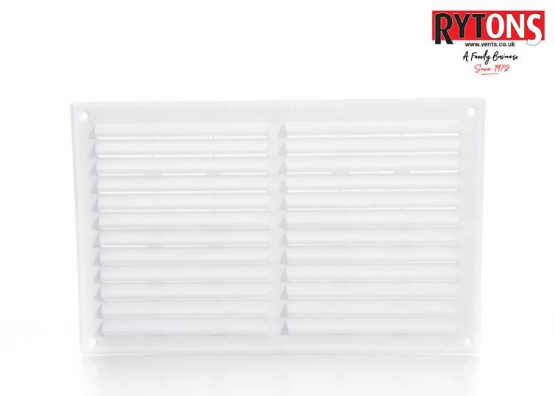 Rytons Plastic Louvre Ventilator with Flyscreen Range