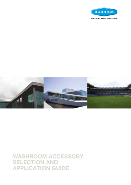 Washroom Accessory Selection and Application Guide 2