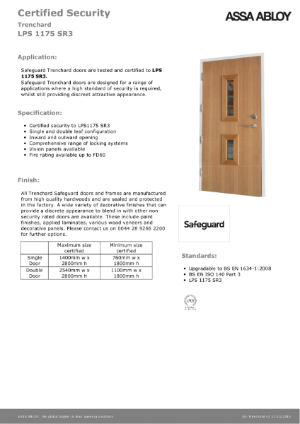 Safeguard - SR3
