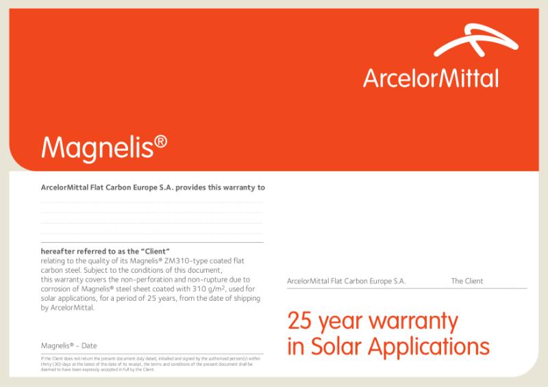 Magnelis Warranty Solar EN
