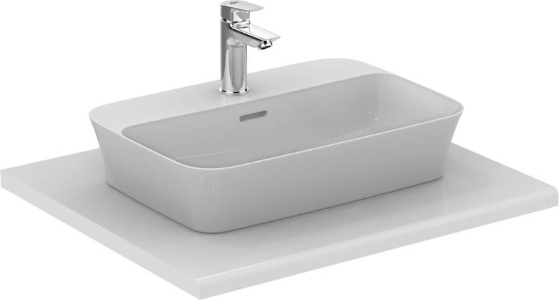 Ipalyss Vessel Rectangular 55X38 Cm With Tapdeck And Slotted Overflow
