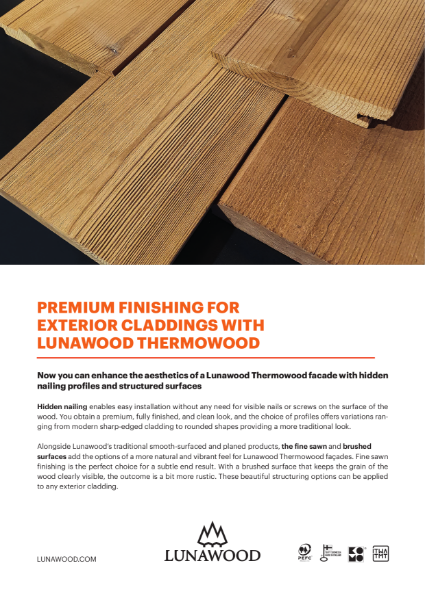 Premium Finishing for Lunawood Thermowood