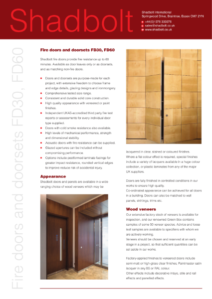 Fire doors and doorsets