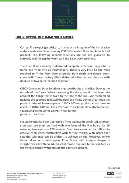 CISCO Fire Stopping Riser