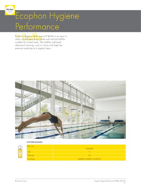 Ecophon Hygiene Performance Baffle C4