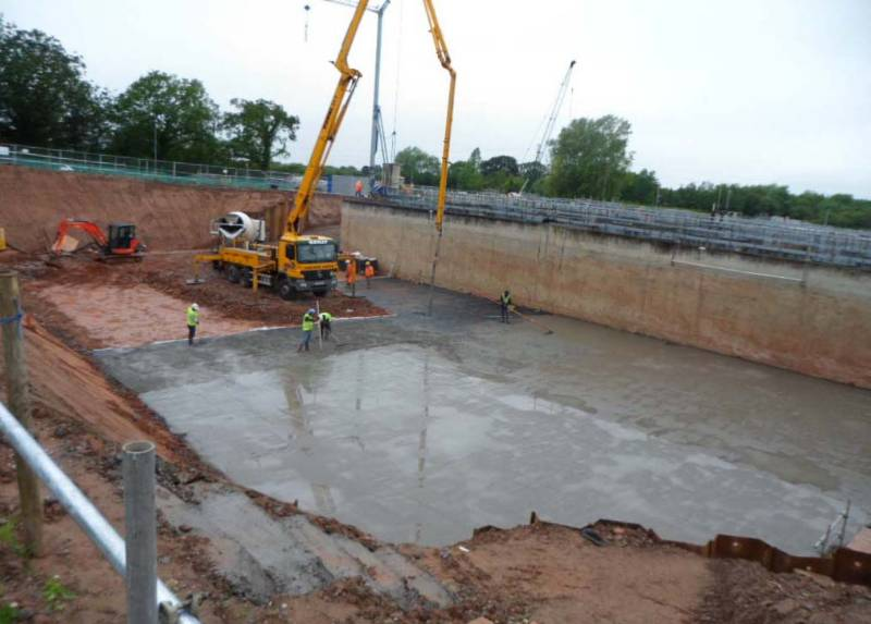 Structural Drainage - Reservoir Base Uplift, Deckdrain, Rushmore STW, Telford, UK