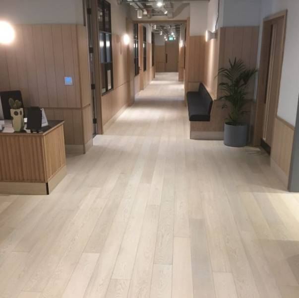 Oak Engineered Wood Flooring, UV Oiled, White/ Snow White