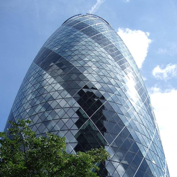 The Gherkin - 30 St Mary Axe, London's first ecological tall building