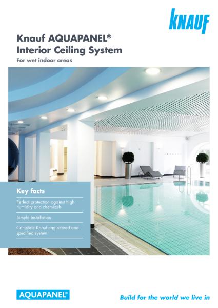 Knauf AQUAPANEL Interior Ceiling System Brochure