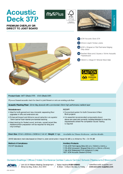Acoustic Deck 37P