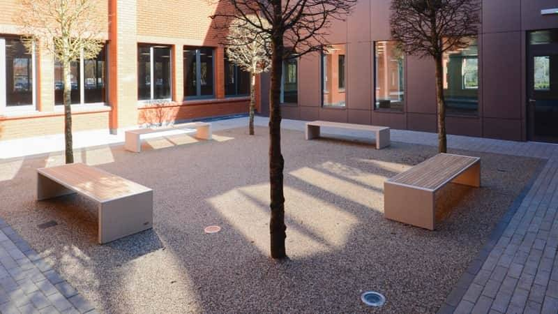 The Smart Paving Choice for Business Park Courtyard