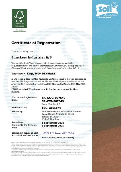 FSC certification 2020