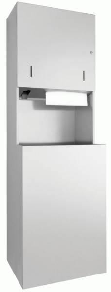 DP4111 Dolphin Prestige Combination Paper Towel, Soap Dispenser and Waste Bin