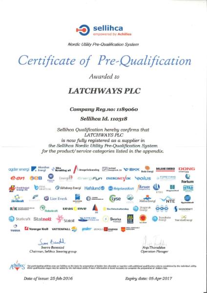 Sellicha certificate of Pre-Qualification